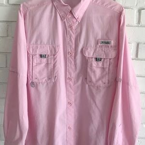 Columbia Shirt-Light Pink-Size XL TG-Women's Tall